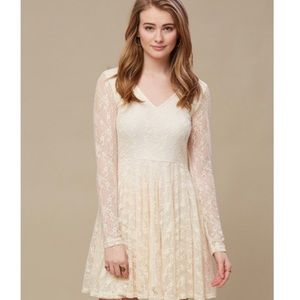 Alter'd State Lace and Bow Long Sleeve Dress